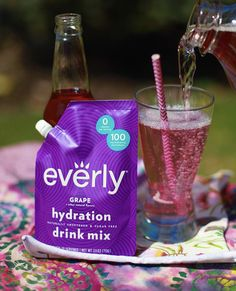 Sugar Free Drinks, Hydrating Drinks, Grape Soda, Low Sugar, Simple Syrup, Natural Flavors, Mixed Drinks, Recipe Using, Treats