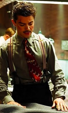 Dominic Cooper as Howard Stark in 'Captain America' (2011). Costume Designer: Anna B. Sheppard