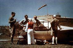Hanna Reitsch with DFS Reiher on expedition in Libya - 1939