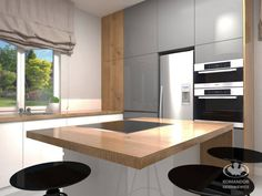 Wizualizacja meble kuchenne KOMANDOR SKIERNIEWICE  www.modanakomandora.pl