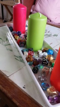 Decorative stuff for candles for #geeks #D20