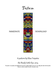 Totem, Peyote pattern for a cuff bracelet