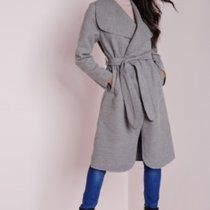Missguided duster coat in dark grey size 8 (will fit UK 6 and 10 also). Never worn as didn't suit me. MIDI/MAXI. 💜