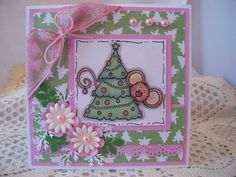 Christmas Card  --   Handmade Cards by Cynthia  --  3D  --  INSIDE & OUTSIDE  SOLD!
