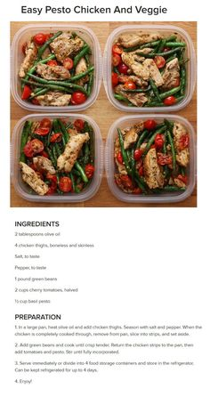Pesto Chicken and Veggie __ Chicken Green Beans Pan fried Pesto Stir fry Lunch Meal Prep, Healthy Meal Prep, Healthy Cooking, Healthy Snacks, Healthy Eating, Cooking Recipes, Healthy Recipes, Avocado Recipes, Low Calorie Meal Prep Lunches