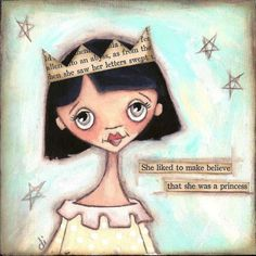 Make Believe Princess print  ©dianeduda/dudadaze