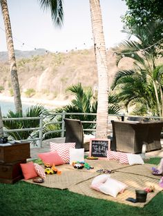 Kids Play Area -- Love this!! See more on Style Me Pretty:  http://www.StyleMePretty.com/destination-weddings/2014/02/28/puerto-vallarta-wedding-at-la-mansion/ Photography: Jillian Mitchell