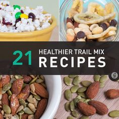 21 Healthier Trail Mix Recipes to Make Yourself — Make your favorite on-the-go snack healthier (and more delicious!) with some of these add-ins. #healthy #trailmix #recipes #greatist