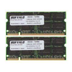 Buffalo 2 Gb 2x1gb Pc2700 Ddr 333mhz 200pin Ddr1 Cl2.5 Sodimm Laptop Ram Memory Pc-2700 (ddr-333) 1gb So-dimm 200 Sdram