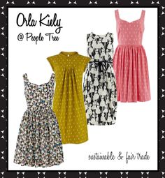 orla kiely for people tree - sustainable & fair trade fashion.  yes, please :)