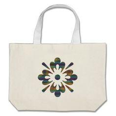 Cross-stitch flower tote bag | Zazzle