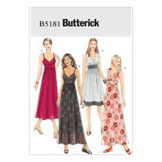Butterick Sewing Pattern B5181 Misses' Dress