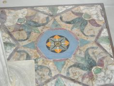"Four hexagon glass (""opus sectile"") from House of Vestals at Pompeii - Naples, Archaeological Museum 