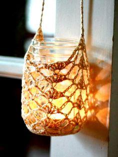 Mason Jar Crochet Cover, Craftsy Project (scheduled via http://www.tailwindapp.com?ref=scheduled_pin&post=205167)