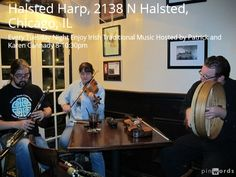 Tuesday Night Irish Traditional Music Hosted by Patrick and Karen Cannady at the Halsted Harp, Chicago, IL Words added on pinwords.com #HalstedHarp #Irishtraditionalmusic #Cannady #StPatricks http://www.piobagusfidil.com/events