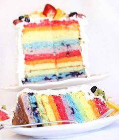 Fruit Rainbow Cake