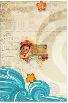 Moana Bebé: Etiquetas para Candy Bar para Imprimir Gratis.