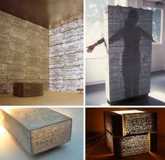 Translucent concrete It can, at the same time, be building material and light filter, can separate and connect, can be wall or floor, ambien...