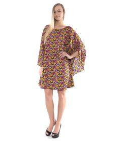 DAISY KIMONO STYLE CAPE DRESS