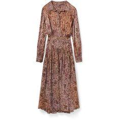 Rebecca Minkoff Jolt Dress ($398) ❤ liked on Polyvore featuring dresses, rebecca minkoff, rebecca minkoff dress and brown dress