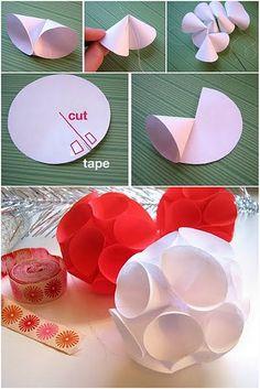 Paper cone globes