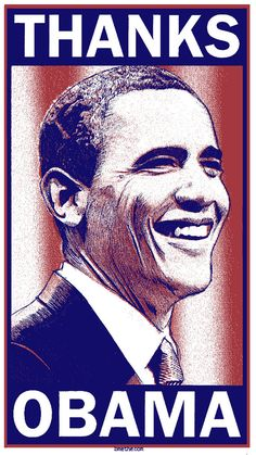 Limited Edition Screen Printed Art Print Thanks Obama by by bmethe