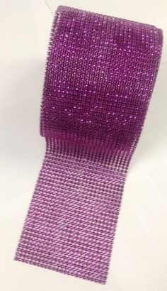 """4.75"""" X 10 Yards Purple Diamond Mesh Wrap Roll Sparkle Bling Rhinestone Ribbon Crystal Ribbon Table Wedding Decoration. 4.75"""" X 10 Yards Purple Diamond Mesh Wrap Roll Sparkle Bling Rhinestone Ribbon Crystal Ribbon Table Wedding Decoration on Tradesy Weddings (formerly Recycled Bride), the world's largest wedding marketplace. Price $22.94...Could You Get it For Less? Click Now to Find Out!"""