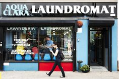 Laundromats of New York City Laundry Logo, Laundry Shop, Laundromat Business, Shop Facade, Small Laundry Rooms, Our Town, General Store, Book Photography, Store Fronts