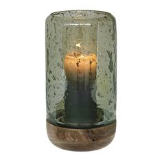 Scandinavian hurricane lamp wooden base and glass casing green Harvey Norman, Hurricane Lamps, Cozy Living, Luster, Farmhouse Style, Scandinavian, Candle Holders, Candles, Lights
