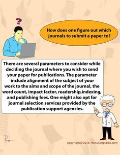 #Manuscriptedit @ How does one figure out which journals to submit a #paper to?