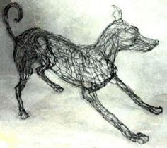 Wire Sculpture by Elizabeth Berrien - at Sunny Brae Animal Clinic