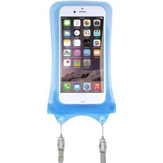 AquaVault Waterproof Phone Case. Dual Layer, Floating Air Bag Design and Neck Strap, Fits All Phones Up to 5.7 Inches. - Blue