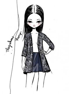 Candybird illustrations for Theyskens' Theory @ New York Womenswear A/W 2013 -