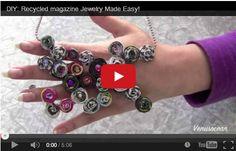 Riciclare la carta: fare una collana con le riviste  http://hobby.donnatrendy.com/riciclare-la-carta-fare-una-collana-con-le-riviste/2492/