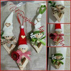 Nuovi babbini con corpo a forma di cuore in legno. ....      Io li trovo deliziosissimi :)