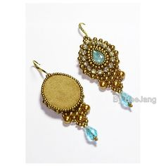 Tutorial Indis Earrings от bybeejang на Etsy