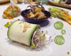 Vegan roll di zucchine di Solo Crudo, Roma.  #rawfood #veganfood #food