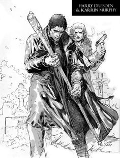 Harry Dresden and Karrin Murphy by the Dabel Brothers