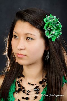 Lucky Kelly Green Shabby Chic Hair Clip or Brooch. $10.00, via Etsy.