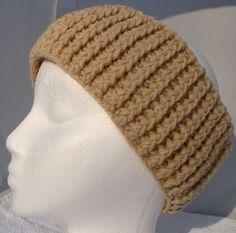 Crochet Headband Ear Warmers Creme Beige by CherylsKnits on Etsy, $20.00