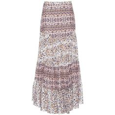 See By Chloé Printed Cotton Maxi Skirt ($330) ❤ liked on Polyvore featuring skirts, multicoloured, cotton skirts, multi color maxi skirt, colorful skirts, see by chloé and pink maxi skirt