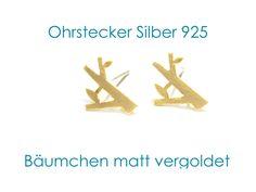 Ohrstecker Baum von DeineSchmuckFreundin - Schmuck und Accessoires auf DaWanda.com
