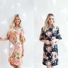Silk Floral Bell Sleeve Dress in two colors! Use my code for 10% off NATRAWL10 #poppyanddotrockstar #poppyanddotambassador