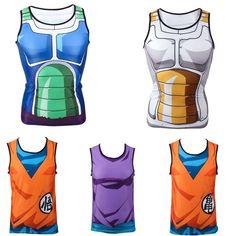 Men Lady Sleeveless Tank top T Shirt Dragon Ball DBZ  Saiyan Vegeta Goku Costume