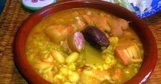 Cocina Valenciana - arròs amb fesols i naps (arroz con alubias y nabos). Es un plato muy popular que llegó a inmortalizar el poeta valenciano Teodoro Llorente Olivares.2 Se suele servir caliente, generalmente recién elaborado.
