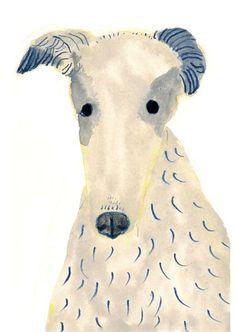 Borzio by Itsuko Suzuki// dog Illustration Art And Illustration, Animal Illustrations, Arte Inspo, Desenho Pop Art, Dog Paintings, Dog Art, Pet Portraits, Painting & Drawing, Illustrators