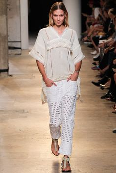 Isabel Marant Spring 2015 Ready-to-Wear Fashion Show - Karlie Kloss (IMG)
