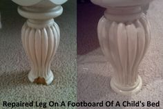 Before and After Images of Furniture Repair Job