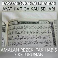 Ayat 114 Al-Maidah sehari. Prayer Verses, Quran Verses, Quran Quotes, Hijrah Islam, Doa Islam, Reminder Quotes, Self Reminder, Tumblr Quotes, Life Quotes