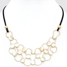 Lucite Ova Necklace
